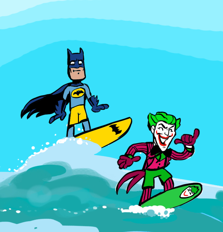 BATMAN AND JOKER SURFING CONTEST
