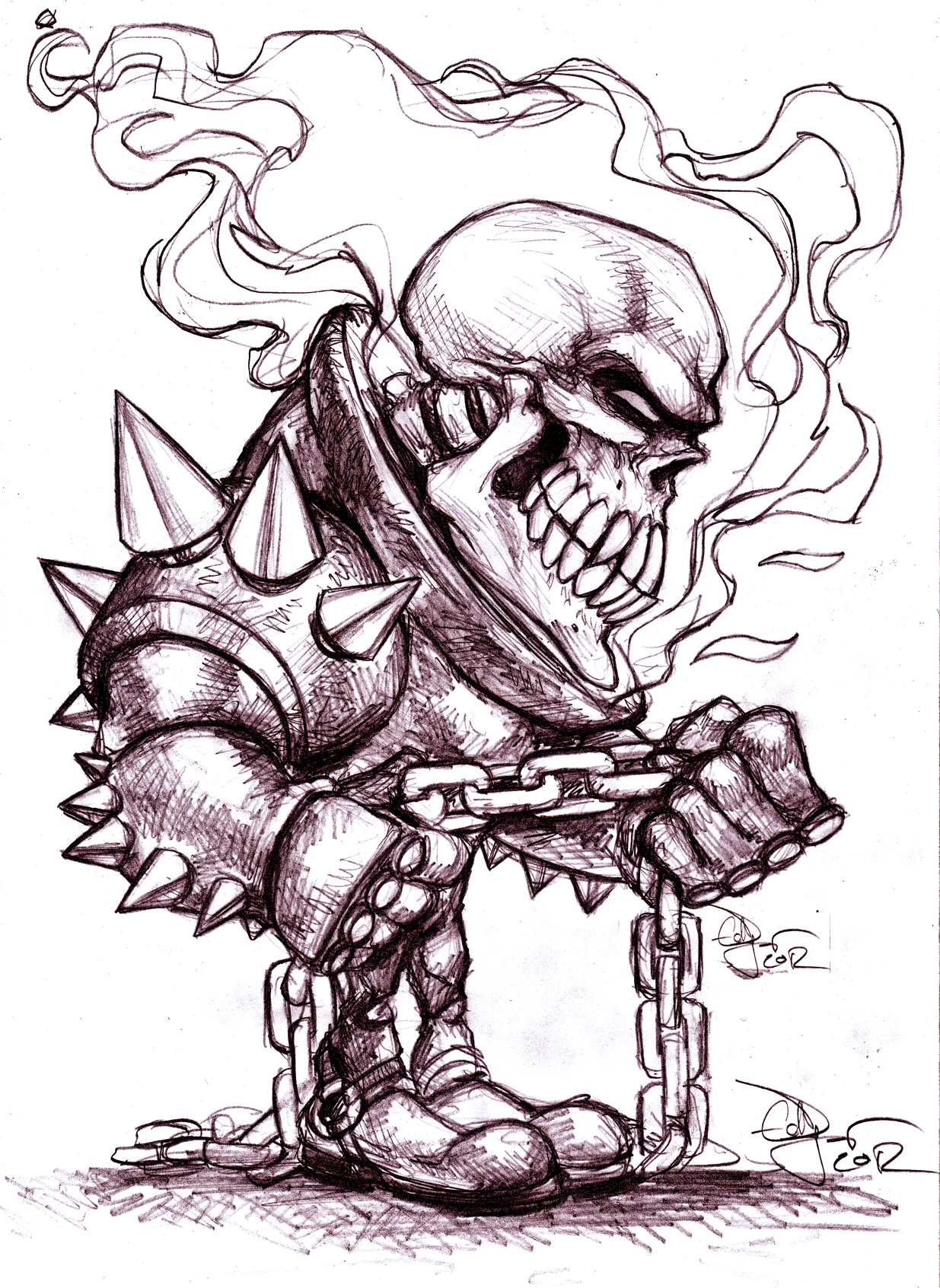 Ghost Rider caricature 2012
