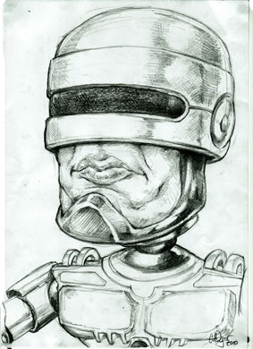 "Robocop say: ""Stay out of trouble"""