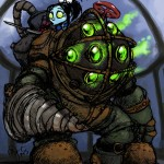 Big Daddy with Little Sister from Bioshock 2013